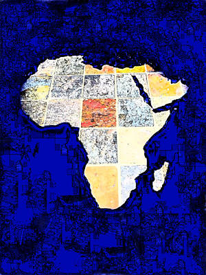 Poster featuring the photograph Blue Africa by Anne Mott