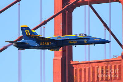 Poster featuring the photograph Blue Angels F-18 Super Hornet . 7d8055 by Wingsdomain Art and Photography
