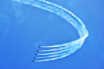 Poster featuring the photograph Blue Angels by Kelly Reber