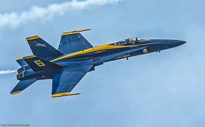 Poster featuring the photograph Blue Angels by Linda Karlin