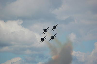 Blue Angels Roaring By Poster