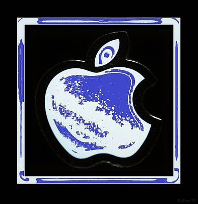 Blue Apple Poster by Rob Hans