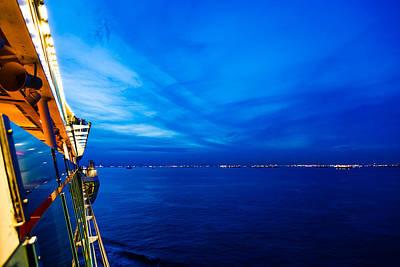Blue At Sea Poster