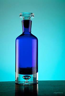Blue Bottle Poster by Michelle Wiarda