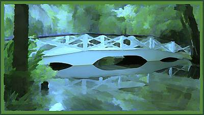 Blue Bridge In Magnolia Poster by Mindy Newman