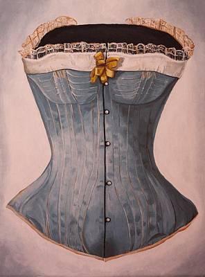 Blue Corset Poster by Jennifer Lynch