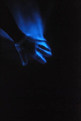 Poster featuring the photograph Blue Fire by Luis Esteves