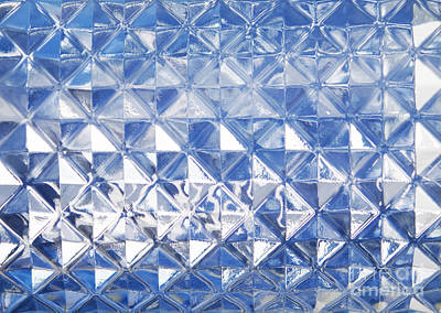 Blue Glass Texture Poster by Blink Images