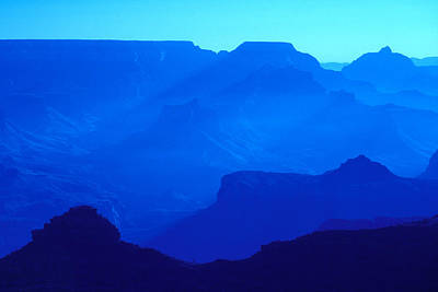 Blue Grand Canyon Poster