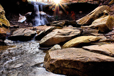 Poster featuring the photograph Blue Hen Falls by Michelle Joseph-Long