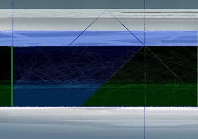 Blue Horizon Poster by Naxart Studio