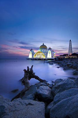 Blue Hour At The Mosque Poster by Ng Hock How