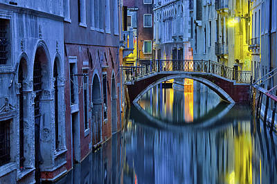 Blue Hour In Venice Poster
