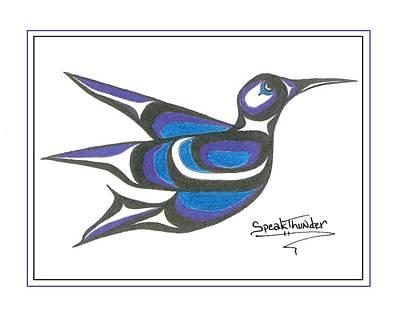 Blue Humming Bird Poster by Speakthunder Berry