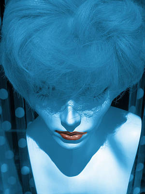 Blue Kiss Poster by David Pantuso
