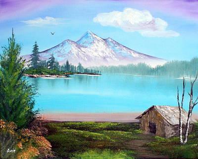 Blue Lake Poster by Aamir Khayam