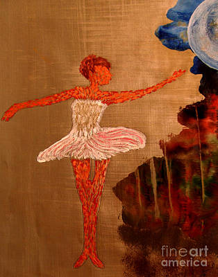 Poster featuring the painting Blue Moon Balerina by Ayasha Loya