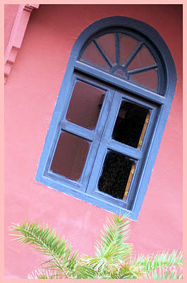 Blue Morrocan Window Poster