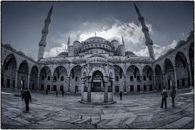 Blue Mosque Courtyard Poster