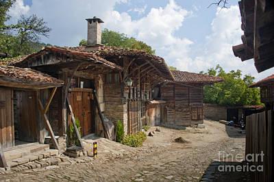 Blue Mountain Village Bulgaria Poster by Donald Davis