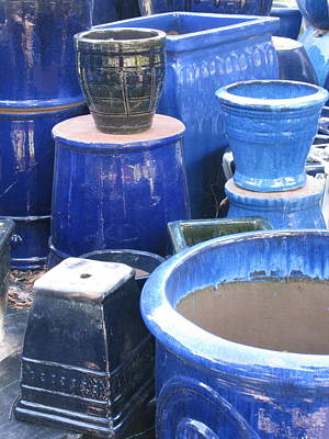 Poster featuring the photograph Blue Pots by Brian Sereda
