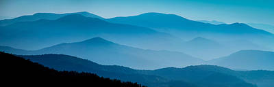 Blue Ridges Panoramic Poster