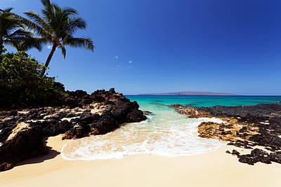 Blue Sky At Secret Beach Makena Poster