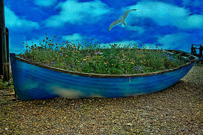 Poster featuring the photograph Blue Sky Boat  by Chris Lord