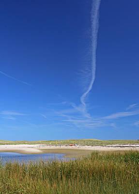 Blue Sky Over Nauset Beach Poster