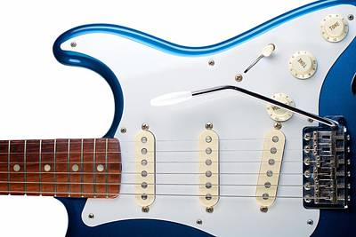 Poster featuring the photograph Blue Strat by Kim Wilson