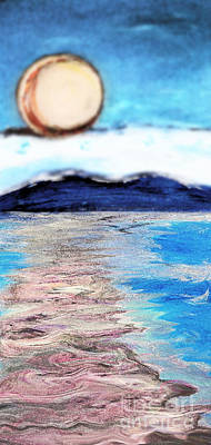 Blue Sunrise Rendered Poster