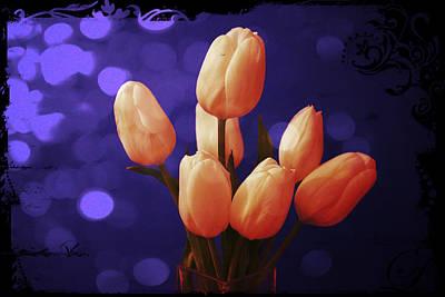 Blue Tulip Poster by Shweta Singh
