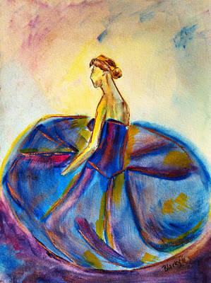Blue Tutu Poster by Donna Blackhall