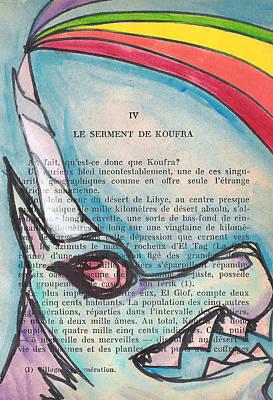 Blue Unicorn Poster by Jera Sky