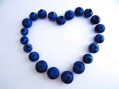 Poster featuring the photograph Blueberry Heart by Julia Wilcox