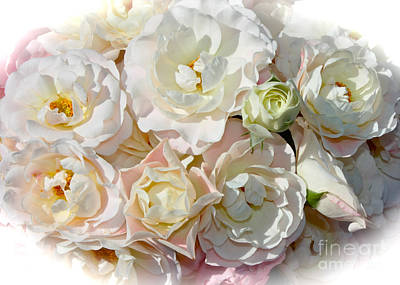 Blushing Roses Bouquet Poster