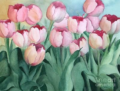 Blushing Tulips Poster