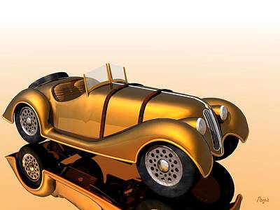 Poster featuring the digital art Bmw Roadster by John Pangia