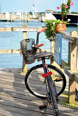 Poster featuring the photograph Boardwalk Bike by Kelly Nowak