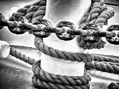 Poster featuring the photograph Boat Chain by Kelly Reber