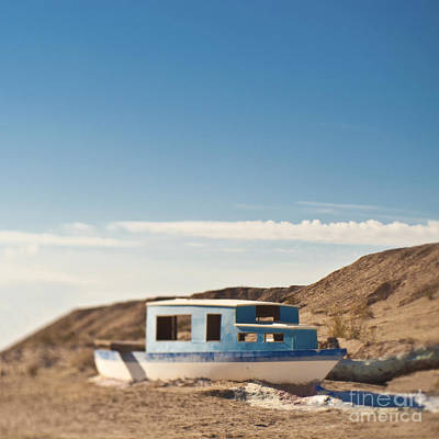 Boat In The Desert Poster by Eddy Joaquim