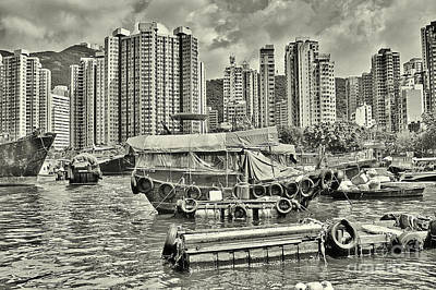 Boat Life In Hong Kong Poster