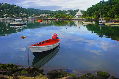 Poster featuring the photograph Boats-castries Harbor- St Lucia by Chester Williams