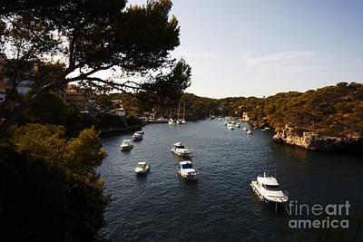 Boats In Cala Figuera Poster