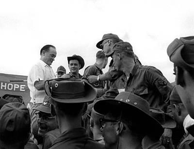 Bob Hope Signing Autographs Poster