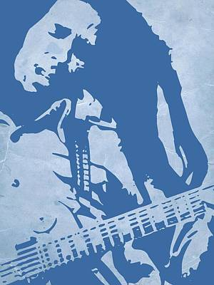Bob Marley Blue Poster by Naxart Studio