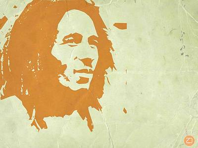 Bob Marley Yellow 3 Poster by Naxart Studio