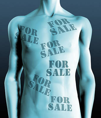 Body Parts For Sale Poster by Victor Habbick Visions
