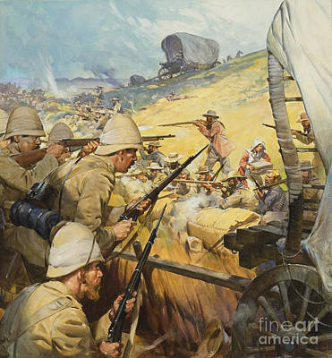 Boer War Skirmish Poster by James Edwin McConnell