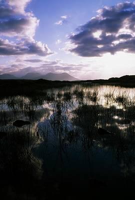 Bog Lake & Twelve Bens, Near Clifden,co Poster